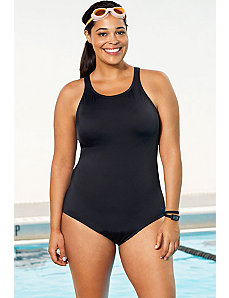 Chlorine Resistant! High Neck Swimsuit by Aquabelle