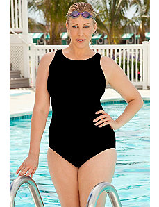 Chlorine Resistant! D Cup High Neck Suit by Aquabelle