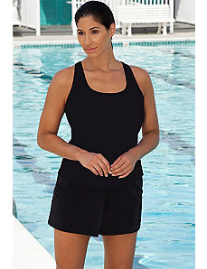 Chlorine Resistant! Black Shortini by Aquabelle