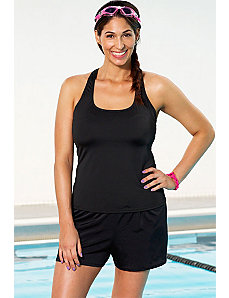 Aquabelle Black Racerback Shortini by Aquabelle