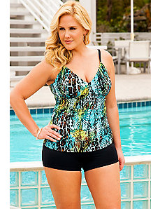 Cheetah Reptile Shirred Boy Shortini by Swim Sexy