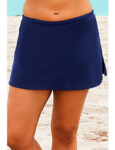 Navy Side Slit Skirt by Beach Belle