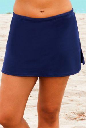 Navy Side Slit Skirt