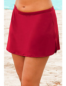 Raisin Side Slit Skirt by Beach Belle
