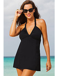 Swim Sexy Eclipse V-Neck Halter Swimdress by Swim Sexy