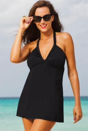 Eclipse V-Neck Halter Swimdress