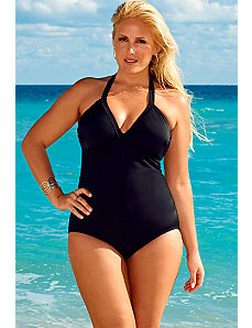 Swim Sexy Eclipse V-Neck Halter Swimsuit by Swim Sexy