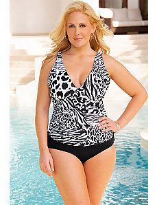 Zoo Side Tie Tankini by Swim & Sun