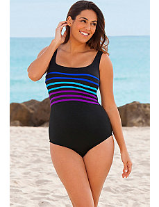 Sapphire Peppermint Twist Tank Swimsuit by Longitude