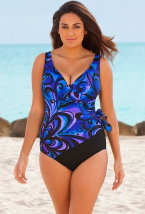 Spin Out Side Tie Surplice Swimsuit