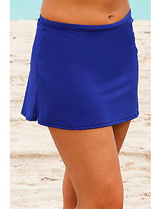 Deep Royal Side Slit Skirt by Beach Belle