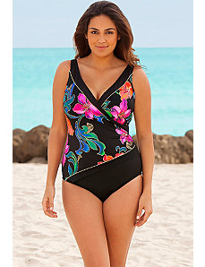 Thailand Piped SurpliceSwimsuit by Longitude