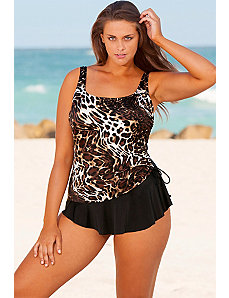 Maneater Tank Sarong Swimsuit by Longitude