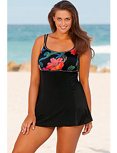 Thailand Plus Size Lingerie Swimdress by Longitude