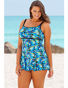 Blue Lil Wings Lingerie Swimdress by Longitude