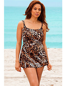 Big Cat Princess Seam Swimdress by Longitude