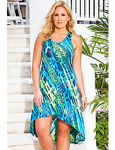 Chameleon High/Low Racer Back Tank Dress by Swim & Sun