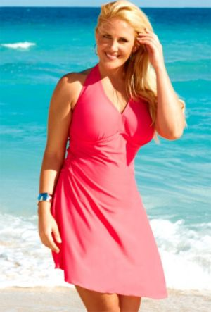 Coral Convertible Swimdress