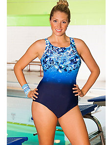 Chlorine Resistant Aqua-Holic Highneck Swimsuit by Aquabelle