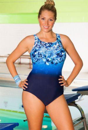 Chlorine Resistant Aqua-Holic Highneck Swimsuit