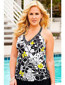 Night and Day V-Neck Sport Tankini Top by s4a