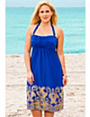 Sapphire Gold Swirls Bandeau Dress by s4a