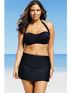 Bandeau/Halter Skirtini by Swim Sexy