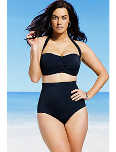 Black Retro High Waist Bikini by Swim & Sun