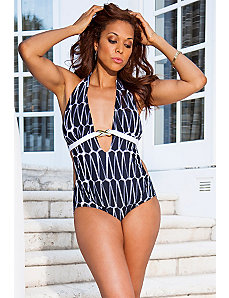 Diamond Monokini with Hardware by Swim & Sun