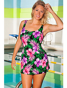 Chlorine Resistant Romance Princess Seam Swimdress by Aquabelle
