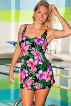 Chlorine Resistant Romance Princess Seam Swimdress
