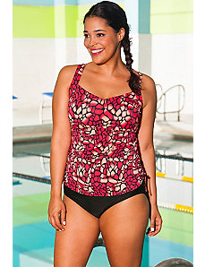 Chlorine Resistant Mojave Side Shirred Tankini by Aquabelle