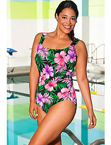 Chlorine Resistant Romance Side Shirred Swimsuit by Aquabelle