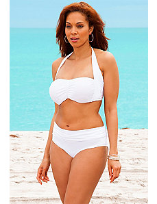 White Halter Bikini by Swim Sexy