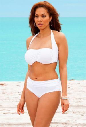 White Halter Bikini