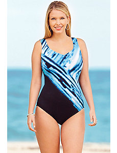 Princess of Tides V Neck Tank Swimsuit by Delta Burke
