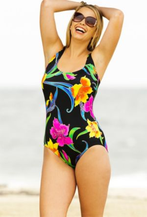 Canton Double X Back Tank Swimsuit