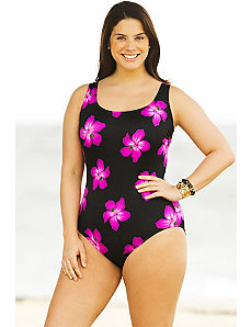 Pink Sashay Tank Swimsuit by Longitude
