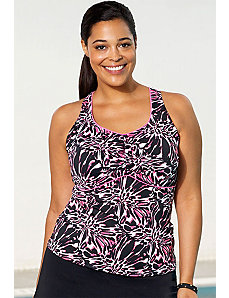 Chlorine Resistant Crackle Racerback Tankini Top by Aquabelle