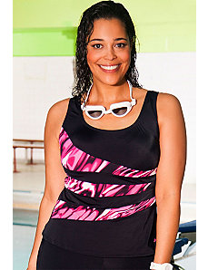 Xtra Life Lycra Ripple Spliced Tankini Top by Aquabelle