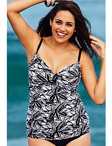 Mahalo Tab Front Tankini Top by Swim Sexy