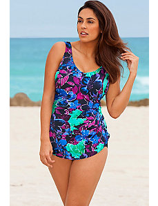 Banana Leaf Sarong Front Swimsuit by Beach Belle
