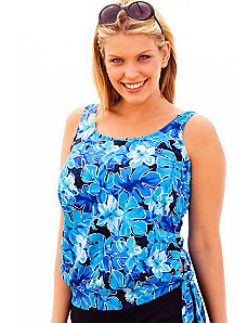Blue Lagoon Blouson Tankini Top by Beach Belle