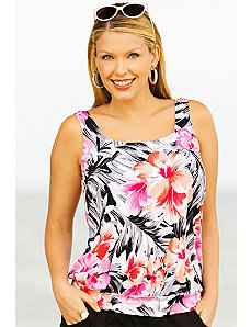 Samoa Blouson Tankini Top by Beach Belle