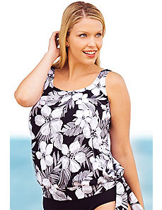 Tiare Blouson Tankini Top by Beach Belle