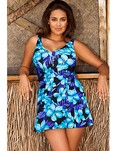 Tahiti V-Neck Swimdress by Beach Belle