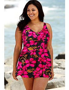Oasis V-Neck Swimdress by Beach Belle