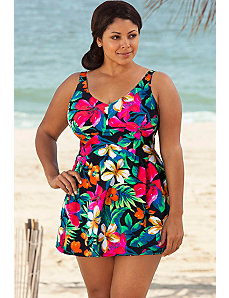 Fiji V-Neck Swimdress by Beach Belle