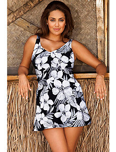 Tiare V-Neck Swimdress by Beach Belle