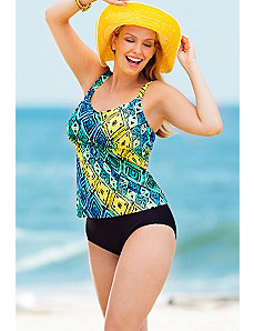 Tribal Flared Tankini by Beach Belle